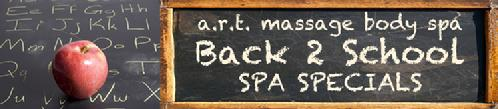 Back to school massage day spa facial manicure pedicure special packages san antonio texas